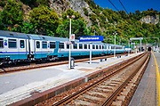 The train station at Monterosso al Mare, Cinque Terre, Liguria, Italy