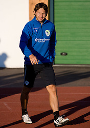 Andrej Komac of Slovenian National football team at practice a day before the last 2010 FIFA Qualifications match between San Marino and Slovenia, on October 13, 2009, in Olimpico Stadium, Serravalle, San Marino.  (Photo by Vid Ponikvar / Sportida)