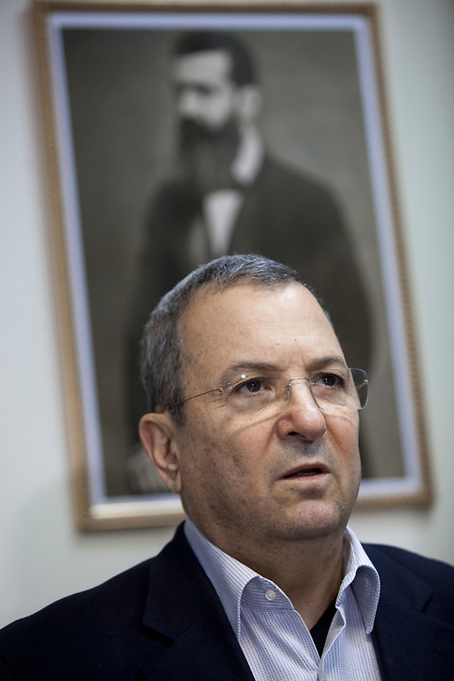 Israel's Defense Minister Ehud Barak attends an Atzmaut faction meeting at the Knesset, Israel's parliament in Jerusalem, on  March 19, 2012.
