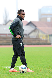 Julius Wobay of Olimpija during press conference and practice session of NK Olimpija Ljubljana, on February 25, 2016 in Stadion ZSD Ljubljana, Ljubljana, Slovenia. Photo by Matic Klansek Velej / Sportida