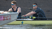 Putney, London,  Tideway Week, Championship Course. River Thames,  Oxford UBC. [R]  6: Michael DiSanto and  7: James Cook, <br /> Tuesday  28/03/2017<br /> [Mandatory Credit; Credit: Peter Spurrier/Intersport Images.com ]