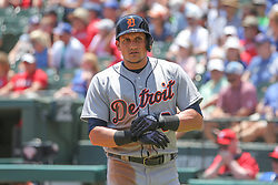 May 9, 2018 - Arlington, TX, U.S. - ARLINGTON, TX - MAY 09: Detroit Tigers outfielder Mikie Mahtook (8) prepares to bat during the game between the Detroit Tigers and the Texas Rangers on May 9, 2018 at Globe Life Park in Arlington, TX. (Photo by George Walker/Icon Sportswire) (Credit Image: © George Walker/Icon SMI via ZUMA Press)