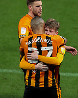 Hull City's Keane Lewis-Potter celebrates scoring the opening goal with Josh Magennis<br /> <br /> Photographer Alex Dodd/CameraSport<br /> <br /> The EFL Sky Bet League One - Hull City v AFC Wimbledon - Tuesday  20th October 2020 - KCOM Stadium - Kingston upon Hull<br /> <br /> World Copyright © 2020 CameraSport. All rights reserved. 43 Linden Ave. Countesthorpe. Leicester. England. LE8 5PG - Tel: +44 (0) 116 277 4147 - admin@camerasport.com - www.camerasport.com