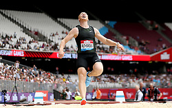 Great Britain's Greg Rutherford fails his first attempt at clearing a jump in the Men's Long Jump during day two of the Muller Anniversary Games at The Queen Elizabeth Stadium, London.