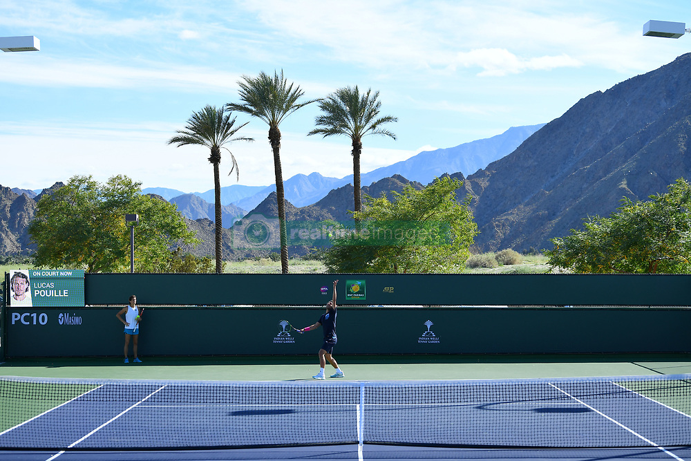 March 8, 2019 - Indian Wells, USA - Lucas Pouille  (Credit Image: © Panoramic via ZUMA Press)
