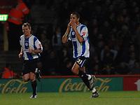 Photo: Ashley Pickering.<br />Norwich City v Sheffield Wednesday. Coca Cola Championship. 09/12/2006.<br />Madjid Bougherra (R) celebrates the opener for Sheffield