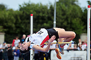 Emily Rogers from Louth 1st  in the Girls High jump  at the  HSE Community Games National Finals 2010 in the AIT in Athlone. Photo:Andrew Downes