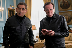 Rowan Atkinson as Johnny English and Ben Miller as Bough in JOHNNY ENGLISH STRIKES AGAIN, a Focus Features release.