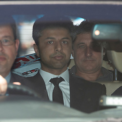 Mcc0054158.DT News. Shrien Dewani extradited to South Africa where he faces allegations of the ordering the murder of his newly wed wife Anni.Pic Shows Shrien Dewani being driven away from court