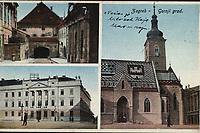 Zagreb - Gornji grad.  <br /> <br /> ImpresumZagreb : Naklada [1928]. (Bp [Budimpešta] : Knöpfmacher J.)<br /> Materijalni opis1 razglednica : tisak ; 8,7 x 14 cm.<br /> Vrstavizualna građa • razglednice<br /> ZbirkaGrafička zbirka NSK • Zbirka razglednica<br /> ProjektPozdrav iz Hrvatske • Pozdrav iz Zagreba<br /> Formatimage/jpeg<br /> PredmetZagreb –– Trg Svetog Marka<br /> Crkva svetog Marka (Zagreb)<br /> SignaturaRZG-MARK-3<br /> Obuhvat(vremenski)20. stoljeće<br /> NapomenaRazglednica je putovala.<br /> PravaJavno dobro<br /> Identifikatori000952466<br /> NBN.HRNBN: urn:nbn:hr:238:096033 <br /> <br /> Izvor: Digitalne zbirke Nacionalne i sveučilišne knjižnice u Zagrebu