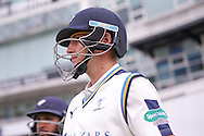 Yorkshire Batsman Joe Root  going out to bat during the Specsavers County Champ Div 1 match between Yorkshire County Cricket Club and Surrey County Cricket Club at Headingley Stadium, Headingley, United Kingdom on 10 May 2016. Photo by Simon Davies.