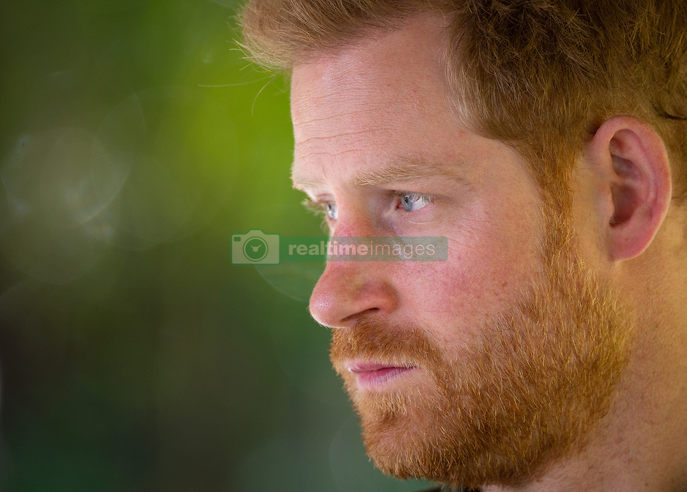 The Duke of Sussex during a visit to see the work of a Botswana Defence Force anti-poaching patrol, on the Chobe river in Kasane, Botswana, on day four of the royal tour of Africa.