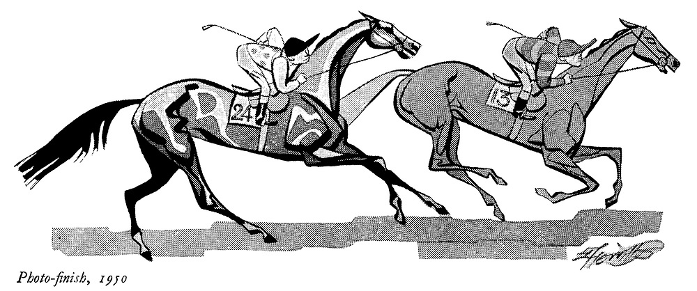 Rough Guide to the Turf ; Newmarket<br /> Photo - finish 1950