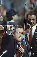 Bob Scheiffer at the Republican Convention in Dallas, Texas  on August 20-23rd in 1984.  Photograph by Dennis Brack  BSB 17