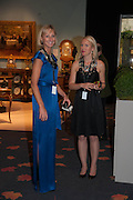 Sarah Percy-Davis (left) and Mieka Sywak (right) at the Opening of The LAPADA  Art and Antiques Fair. Berkeley Sq. London. 24 September 2013.