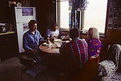 David Barron, ? , & Grandparents Eating Whale Meat