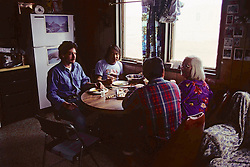 Barry Akpik, Grandparents & David Eating Whale Meat