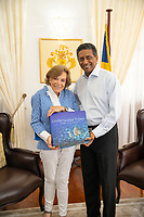 Dr. Sylvia Earle and President Danny Faurer with Sylvia's Book
