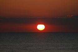 A warm sunset captured on the English Channel (La Manche) in Le Touquet, France, on April 22, 2017. Photo by Papixs/ABACAPRESS.COM