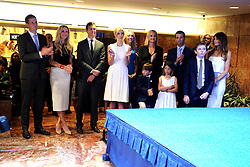 June 16, 2015 - New York, New York, USA - Ivanka Trump, Melania Trump and family listen as her husband real estate investor Donald Trump makes his announcement that he will run for the 2016 presidential elections at the Trump Tower in New York on June 16, 2015.. Trump is the 12th Republican who has announced running for the White House (Credit Image: © Future-Image/ZUMA Wire)