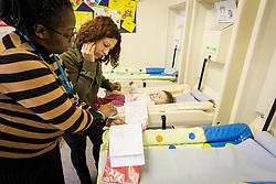 Post natal baby clinic, London Borough of Enfield, UK. Unit part of Barnet, Enfield & Haringey Mental Health Trust (BEHMHT)