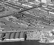 """Crown Mills. Special Lower 2. June 21, 1962"" (4x5"" Burlington Northern Hoyt Street Roundhouse, Lovejoy Viaduct)"