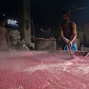 Leftover soap from Mumbai's hotels find their way to dharavi's melting pot to be reconstituded.