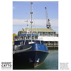 Boats in Lambton Harbour, Wellington, New Zealand.<br />