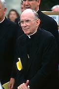 Catholic Cardinal Joseph Bernardin, Archbishop of Chicago, attends a pro-life rally September 12, 1996 in Washington, DC.