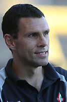 Photo: Pete Lorence.<br />Notts County v Swindon Town. Coca Cola League 2. 23/09/2006.<br />Gus Poyet prior to the match.