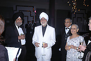 Inder Uppas and Ranbir Suri. The Black and White Winter Ball. Old Billingsgate. London. 8 February 2006. -DO NOT ARCHIVE-© Copyright Photograph by Dafydd Jones 66 Stockwell Park Rd. London SW9 0DA Tel 020 7733 0108 www.dafjones.com