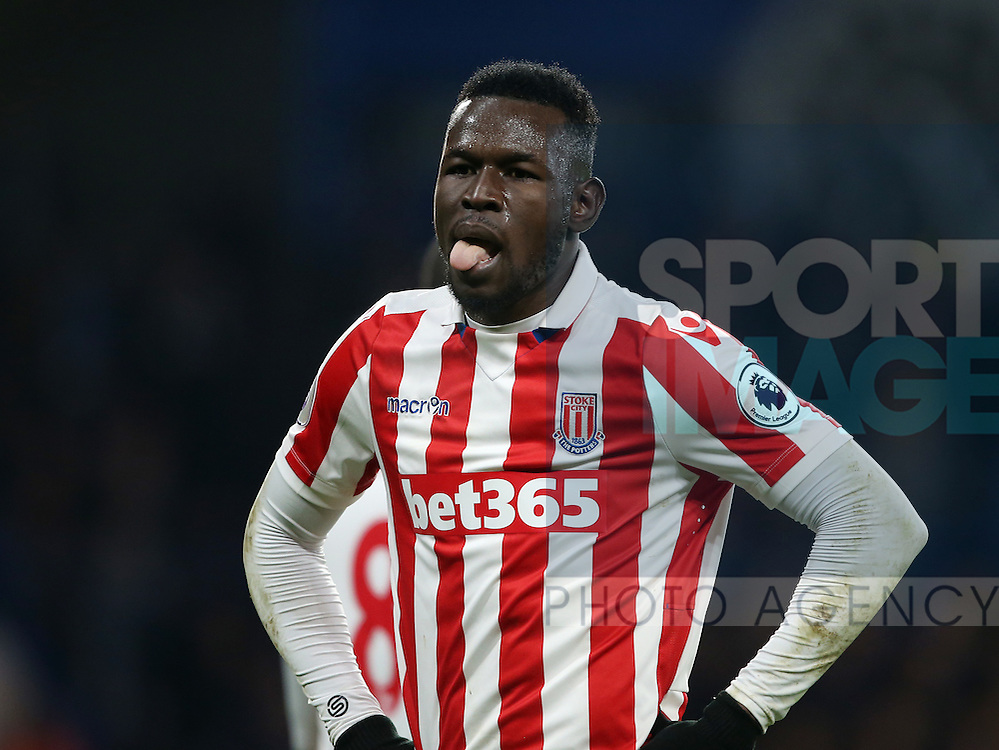 Stoke's Mame Diouf in action during the Premier League match at Stamford Bridge Stadium, London. Picture date December 31st, 2016 Pic David Klein/Sportimage