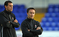 Photo: Paul Thomas.<br /> Chester City v Swindon Town. Coca Cola League 2. 01/09/2006.<br /> <br /> Dennis Wise (R), Swindon manager and his assistant Gus Poyet.