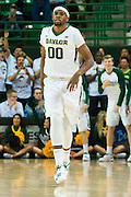 WACO, TX - JANUARY 7: Royce O'Neale #00 of the Baylor Bears celebrates after a made basket against the Kansas Jayhawks on January 7, 2015 at the Ferrell Center in Waco, Texas.  (Photo by Cooper Neill/Getty Images) *** Local Caption *** Royce O'Neale