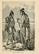 Flat-Head Indians engraving on wood From The human race by Figuier, Louis, (1819-1894) Publication in 1872 Publisher: New York, Appleton
