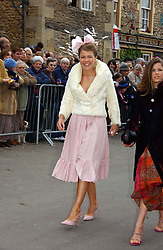AMBER NUTTALL at the wedding of Laura Parker Bowles to Harry Lopes held at Lacock, Wiltshire on 6th May 2006.<br /><br />NON EXCLUSIVE - WORLD RIGHTS