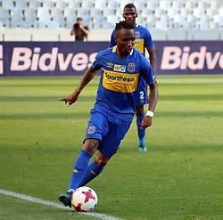 Teko Modise in the MTN8 semi-final first leg match between Cape Town City and Bidvest Wits at the Cape Town Stadium on Sunday 27 August 2017.