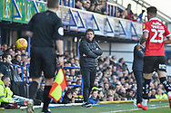Barnsley Manager, Daniel Stendel on the touchline during the EFL Sky Bet League 1 match between Portsmouth and Barnsley at Fratton Park, Portsmouth, England on 23 February 2019.
