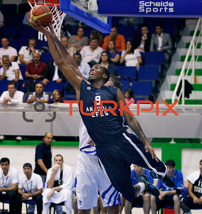 Anadolu Efes's Terence KINSEY (F) during their Turkey Cup Qualifying basketball first match Anadolu Efes between Turk Telekom at Aliaga Arena in Izmir, Turkey, Sunday, October 9, 2011. Photo by TURKPIX