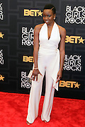April 1, 2016- Newark, NJ: United States- Actress Danai Gurira attends the 2016 Black Girls Rock Red Carpet Arrivals held at NJPAC on April 1, 2016 in Newark, New Jersey. Black Girls Rock! is an annual award show, founded by DJ Beverly Bond, that honors and promotes women of color in different fields involving music, entertainment, medicine, entrepreneurship and visionary aspects.   (Terrence Jennings/terrencejennings.com)