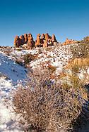 Devils Garden, Arches National Park, Utah, winter