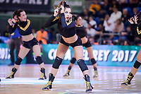 Cheerleaders doing a performance  during Semi Finals match of 2017 King's Cup at Fernando Buesa Arena in Vitoria, Spain. February 18, 2017. (ALTERPHOTOS/BorjaB.Hojas)