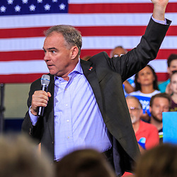 Lancaster, PA - August 30, 2016:  Virginia Senator Tim Kaine, Democrat Party Vice Presidential Candidate, speaks at a campaign appearance at a rally.
