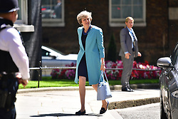 © Licensed to London News Pictures. 14/07/2016. London, U.K. THERESA MAY arrives at 10 Downing street in London for her  first full day as the new British prime minister. Photo credit: Ben Cawthra/LNP