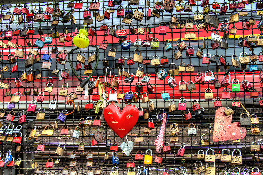 Locks on the The Bridge of Love Locks
