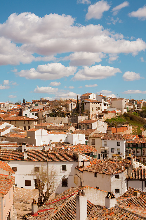 Panoramic view of Chinchon, a small Spanish Village near Madrid, Spain