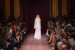 Models on the catwalk during the Julien Macdonald Autumn/Winter 2017 London Fashion Week show at Goldsmith's Hall, London.PRESS ASSOCIATION Photo. Picture date: Saturday February 18th, 2017. Photo credit should read: Matt Crossick/PA Wire.