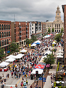 06 JULY 2019 - DES MOINES, IOWA: The downtown Farmers Market in Des Moines, Iowa. The Farmers Market is held on Saturday mornings from May through October. PHOTO BY JACK KURTZ