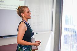 Juliana Hoch apresenta a palestra no #FT17, Festival da Transformação 2017, realizado pela Associação dos Dirigentes de Marketing e Vendas do Rio Grande do Sul (ADVB-RS), na ESPM-Sul. Inspirado em alguns dos maiores eventos do mundo de inovação e tendências (SXSW, Cannes Lions e Burning Man), o #FT17 é maior hub de conteúdo da história de Porto Alegre.  Foto: Felipe Nogs  / Agência Preview