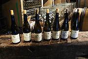 bottles for tasting dom coche bizouard meursault cote de beaune burgundy france